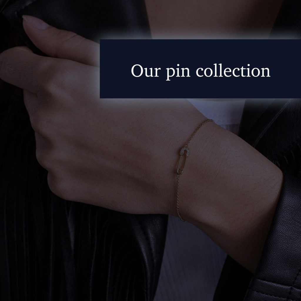 Pin bracelet as part of collection by DvonM Jewellery