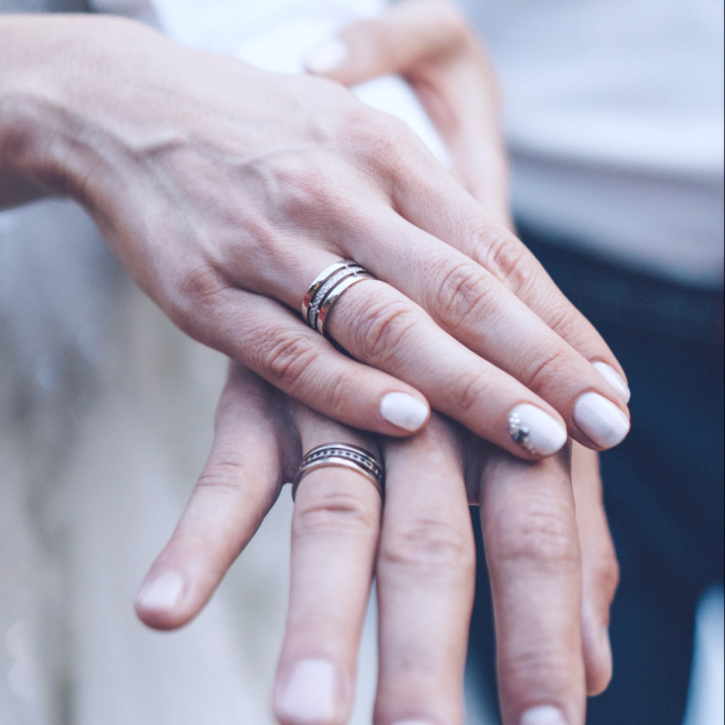 Stones in a wedding ring