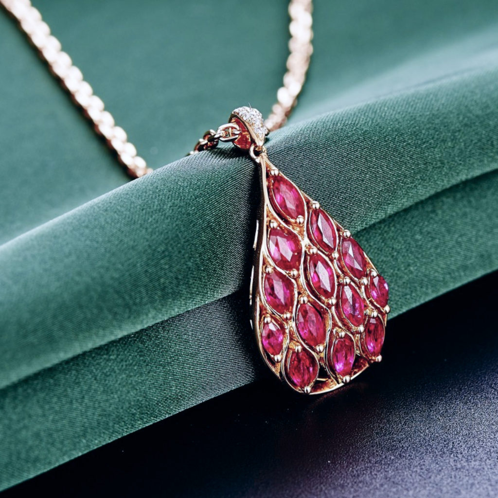 Ruby gemstones and ruby jewellery care