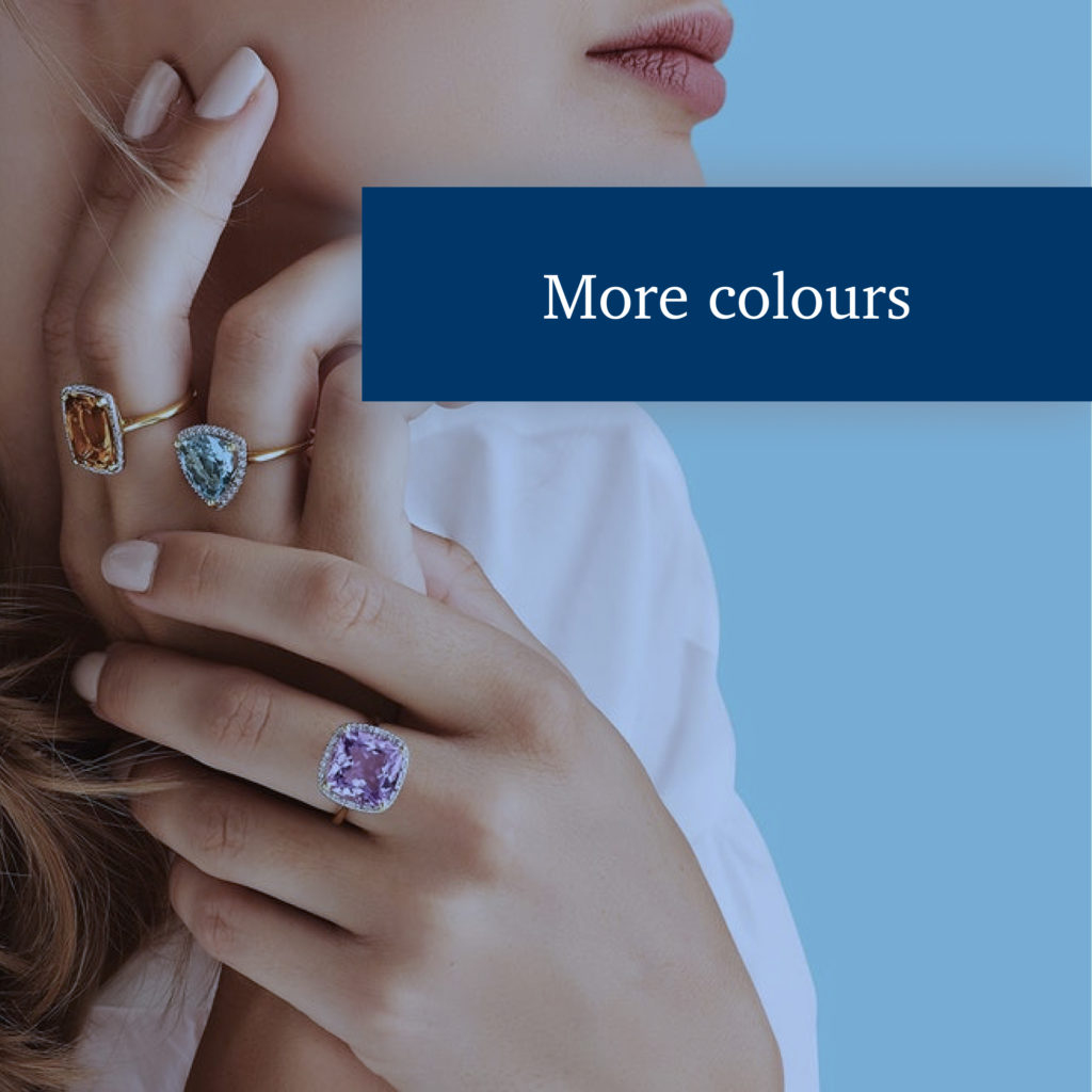 Different colors of metal and precious stones: How to combine?