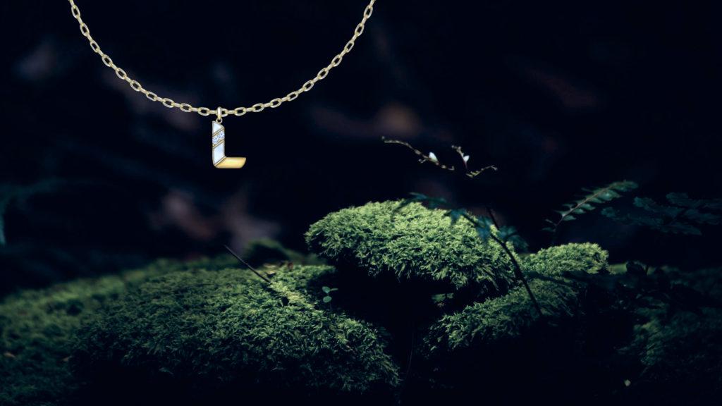 Charm Necklace, Letter L for a client