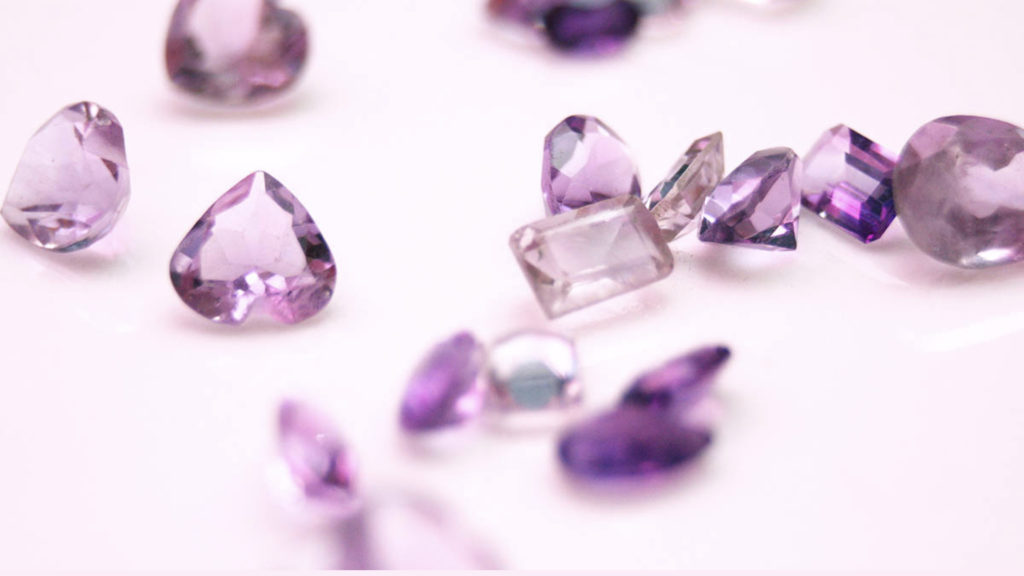 Purple gemstones are rare in nature and are highly prized for their beauty and charming hues